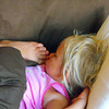 Overnight sleep over...granddaughter Allie Gray, sleeping with her big sister on the couch. :)<br /> <br /> Photographer's Name: J.R. Rosencrans<br /> Photographer's City and State: Alexandria, Ind.