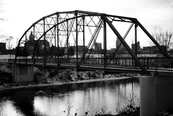 The blue bridge on a cold, January day.<br /> <br /> Photographer's Name: Kimberly Butler<br /> Photographer's City and State: Anderson, Ind.