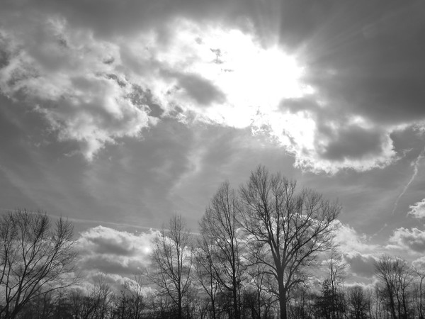 The clouds over Anderson, on a nice 50-degree day.<br /> <br /> Photographer's Name: Harry Van Noy<br /> Photographer's City and State: Lafayette Township, Ind.