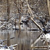 Snow on the water in Killbuck Creek.<br /> <br /> Photographer's Name: J.R. Rosencrans<br /> Photographer's City and State: Alexandria, Ind.