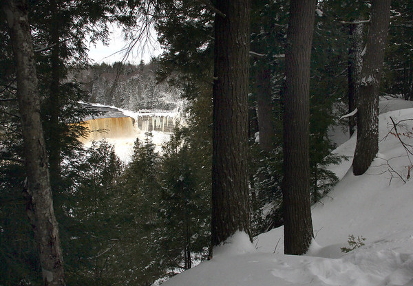 A view through the woods of Tahquamenon Falls in Upper Michigan.<br /> <br /> Photographer's Name: Jerry Byard<br /> Photographer's City and State: Anderson, Ind.