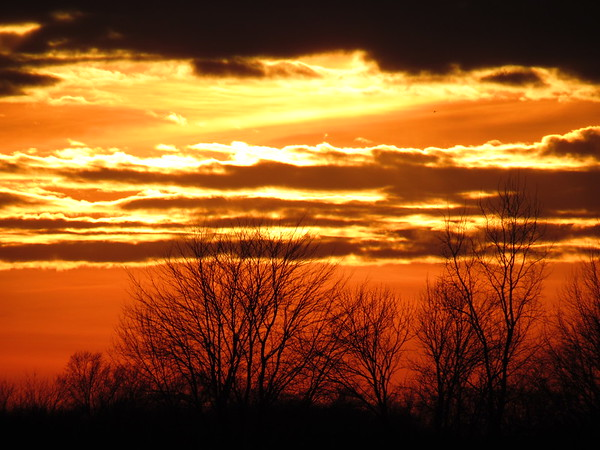Late January sunset.<br /> <br /> Photographer's Name: Harry Van Noy<br /> Photographer's City and State: Lafayette Township, Ind.