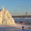 A icy fountain at the Mackinac Bridge in Michigan that I visited recently.<br /> <br /> Photographer's Name: Jerry Byard<br /> Photographer's City and State: Anderson, Ind.