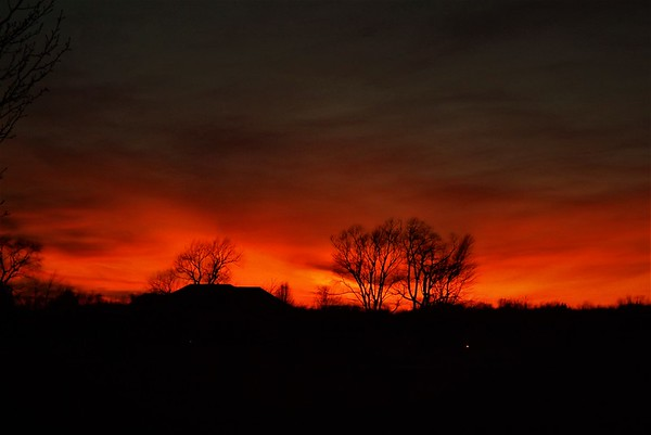 Photo of my house...Richland  Township sunset.<br /> <br /> Photographer's Name: J.R. Rosencrans<br /> Photographer's City and State: Alexandria, Ind.