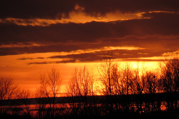 A late January sunsetting.<br /> <br /> Photographer's Name: Harry Van Noy<br /> Photographer's City and State: Lafayette Township, Ind.
