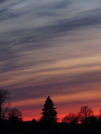 A Valentine's Day sky above Madison County.<br /> <br /> Photographer's Name: Harry Van Noy<br /> Photographer's City and State: Lafayette Township, Ind.