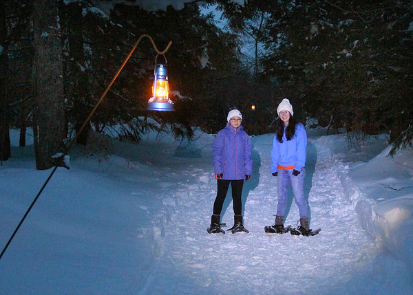 Here are two girls I photographed while snowshoeing at Tahquamenon Falls in Michigan.<br /> <br /> Photographer's Name: Jerry Byard<br /> Photographer's City and State: Anderson, Ind.