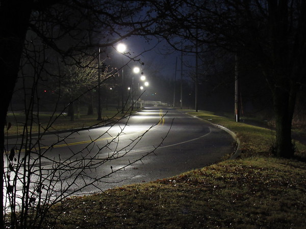 Grand Avenue on a cold and lonely night.<br /> <br /> Photographer's Name: Harry Van Noy<br /> Photographer's City and State: Lafayette Township, Ind.