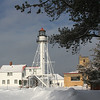 Lighthouse and buildings at Whitefish Point on a beautiful zero morning.<br /> <br /> Photographer's Name: Jerry Byard<br /> Photographer's City and State: Anderson, Ind.