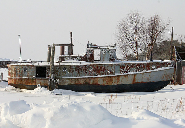 A grounded old boat near Paradise Michigan on Whitefish Bay.<br /> <br /> Photographer's Name: Jerry Byard<br /> Photographer's City and State: Anderson, Ind.
