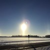 Sundog at north Anderson.<br /> <br /> Photographer's Name:  <br /> Photographers City and Country: ,