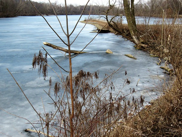 A mid-February frozen Shadyside Lake.<br /> <br /> Photographer's Name: Harry Van Noy<br /> Photographer's City and State: Lafayette Township, Ind.