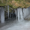 An icicle formation hanging in a small cave along Trail 5 at Mounds Park forms quite often.<br /> <br /> Photographer's Name: Jerry Byard<br /> Photographer's City and State: Anderson, Ind.