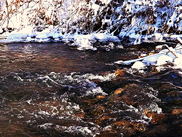 Cold, cold Killbuck Creek in Richland Township.<br /> <br /> Photographer's Name: J.R. Rosencrans<br /> Photographer's City and State: Alexandria, Ind.