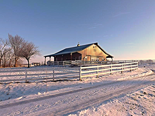 """The """"horse house"""" at my farm in Richland Township.<br /> <br /> Photographer's Name: J.R. Rosencrans<br /> Photographer's City and State: Alexandria, Ind."""