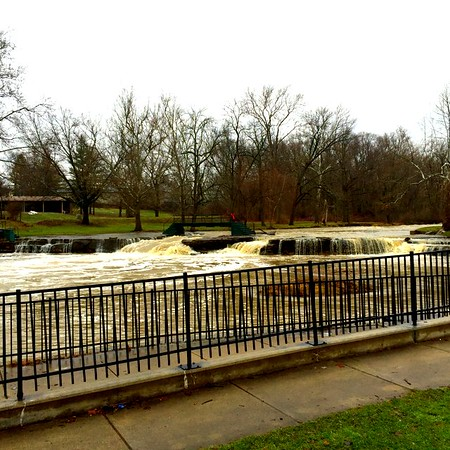 1/16: Fall Creek in Pendleton where I used to swim 65 years ago.<br /> <br /> Photographer's Name: Harry Kirchenbauer<br /> Photographer's City and State: Anderson, Ind.