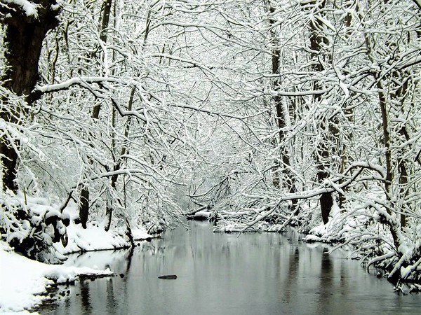 Winter returns to Killbuck Creek.<br /> <br /> Photographer's Name: J.R. Rosencrans<br /> Photographer's City and State: Alexandria, Ind.