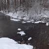Snowy Killbuck Creek.<br /> <br /> Photographer's Name: J.R. Rosencrans<br /> Photographer's City and State: Alexandria, Ind.