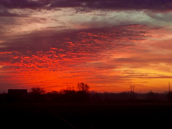 Sunrise over Anderson January 14, 2017.<br /> <br /> Photographer's Name: Terry Lynn Ayers<br /> Photographer's City and State: Anderson, Ind.