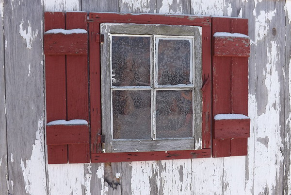 Frosty shed window at my farm in Richland Township.<br /> <br /> Photographer's Name: J.R. Rosencrans<br /> Photographer's City and State: Alexandria, Ind.