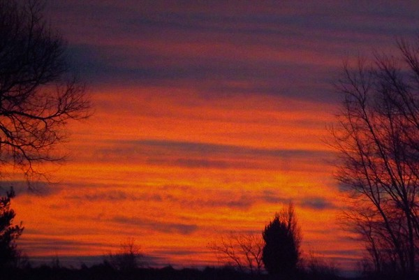 January dawn in Richland Township.<br /> <br /> Photographer's Name: J.R. Rosencrans<br /> Photographer's City and State: Alexandria, Ind.