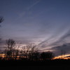 Moon over the New Year's Day sunset.<br /> <br /> Photographer's Name: Harry Van Noy<br /> Photographer's City and State: Lafayette Township, Ind.