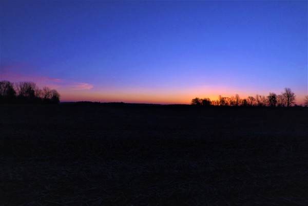First sunrise of 2017 in Richland Township.<br /> <br /> Photographer's Name: J.R. Rosencrans<br /> Photographer's City and State: Alexandria, Ind.
