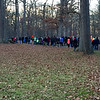 This is a large group of hikers participating in the First Day hike at Mounds Park.<br /> <br /> Photographer's Name: Jerry Byard<br /> Photographer's City and State: Anderson, Ind.