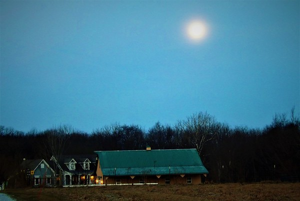 Moonrise on the farm in Richland Township.<br /> <br /> Photographer's Name: J.R. Rosencrans<br /> Photographer's City and State: Alexandria, Ind.