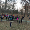 A panorama look at the First Day hikers at Mounds Park.<br /> <br /> Photographer's Name: Jerry Byard<br /> Photographer's City and State: Anderson, Ind.