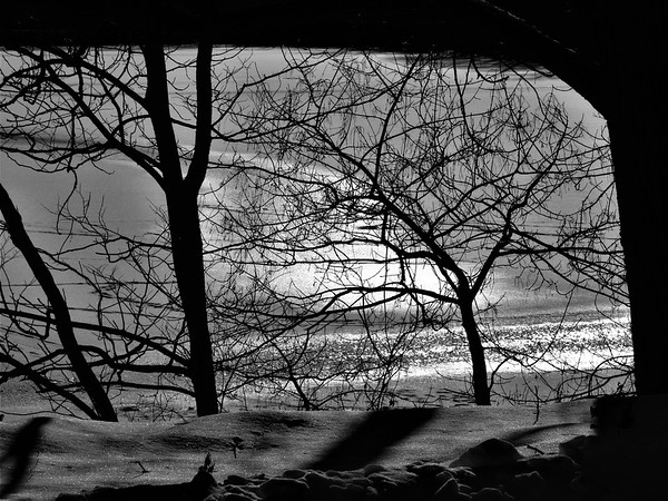 A snow-covered Shadyside Lake.<br /> <br /> Photographer's Name: Harry Van Noy<br /> Photographer's City and State: Lafayette Township, Ind.