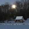 New year moon.<br /> <br /> Photographer's Name: Gordon Bright <br /> Photographer's City and State: Alexandria, Ind.