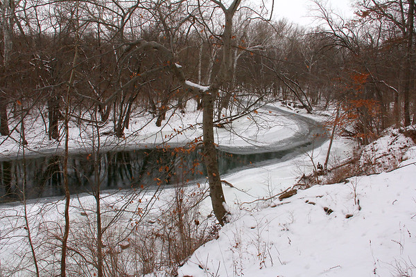 The bend in White River at Mounds Park during the cold spell.<br /> <br /> Photographer's Name: Jerry Byard<br /> Photographer's City and State: Anderson, Ind.