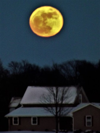 January super moon, taken In Richland Township.<br /> <br /> Photographer's Name: J.R. Rosencrans<br /> Photographer's City and State: Alexandria, Ind.