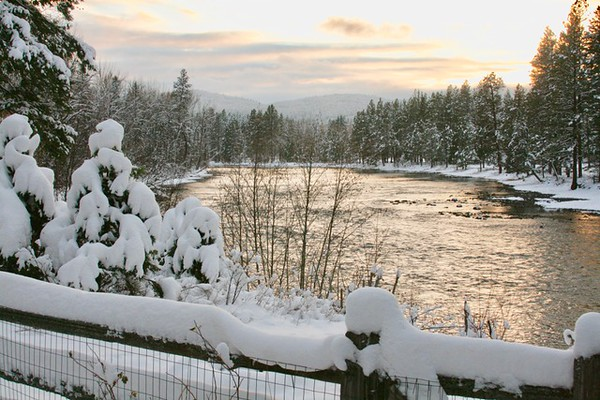 Swan River, Montana winter sunset.<br /> <br /> Photographer's Name: Debbie Lusher Marrinan<br /> Photographer's City and State: Anderson, Ind.