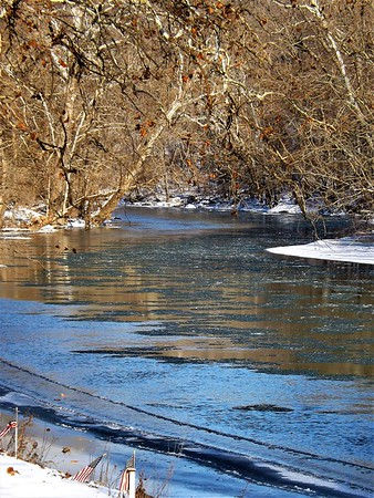 White River in January at Mounds Park.<br /> <br /> Photographer's Name: J.R. Rosencrans<br /> Photographer's City and State: Alexandria, Ind.