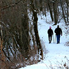 A couple hiking Trail Five at Mounds before the weekend thaw.<br /> <br /> Photographer's Name: Jerry Byard<br /> Photographer's City and State: Anderson, Ind.