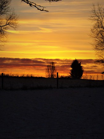 A winter sunset in Richland Township.<br /> <br /> Photographer's Name: J.R. Rosencrans<br /> Photographer's City and State: Alexandria, Ind.