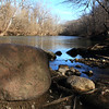 Upstream at Mounds Park on a warm January thaw day.<br /> <br /> Photographer's Name: Jerry Byard<br /> Photographer's City and State: Anderson, Ind.
