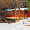 January snowfall at Shadyside Lake.  <br /> <br /> Photographer's Name: Harry Van Noy<br /> Photographer's City and State: Lafayette Township, Ind.