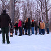 First day Mounds Park hikers listening to some Mound history.<br /> <br /> Photographer's Name: Jerry Byard<br /> Photographer's City and State: Anderson, Ind.