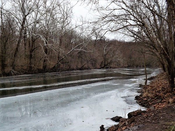 The frozen river, at sub-zero temperatures at Mounds State Park.<br /> <br /> Photographer's Name: J.R. Rosencrans<br /> Photographer's City and State: Alexandria, Ind.