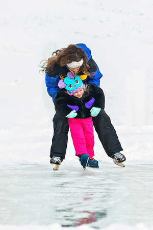 My daughter Alicia Fox teaching her daughter Nilsa how to ice skate.<br /> <br /> Photographer's Name: Terry Lynn Ayers<br /> Photographer's City and State: Anderson, Ind.
