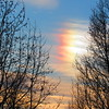 A Christmas Day sun dog.<br /> <br /> Photographer's Name: Harry Van Noy<br /> Photographer's City and State: Lafayette Township, Ind.