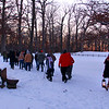 First day hikers at Mounds Park in very cold temperatures.<br /> <br /> Photographer's Name: Jerry Byard<br /> Photographer's City and State: Anderson, Ind.
