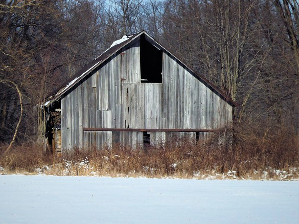 Madison County barn shots in January.<br /> <br /> Photographer's Name: J.R. Rosencrans<br /> Photographer's City and State: Alexandria, Ind.