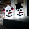 My nieces Abby and Hanna, 10, made a snowman project out of two jugs.<br /> <br /> Photographer's Name: Nicole Winkler<br /> Photographer's City and State: Anderson, Ind.
