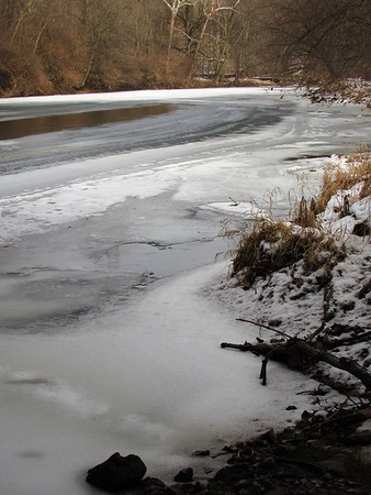 Thawing of White River.<br /> <br /> Photographer's Name: Harry Van Noy<br /> Photographer's City and State: Lafayette Township, Ind.