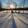 Shadow of a tree at Shadyside Lake for the first sunset of 2018.<br /> <br /> Photographer's Name: Harry Van Noy<br /> Photographer's City and State: Lafayette Township, Ind.