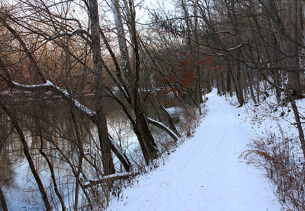 Trail Five at Mounds on a Saturday morning before the thaw.<br /> <br /> Photographer's Name: Jerry Byard<br /> Photographer's City and State: Anderson, Ind.
